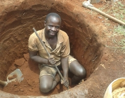 digging the bore hole